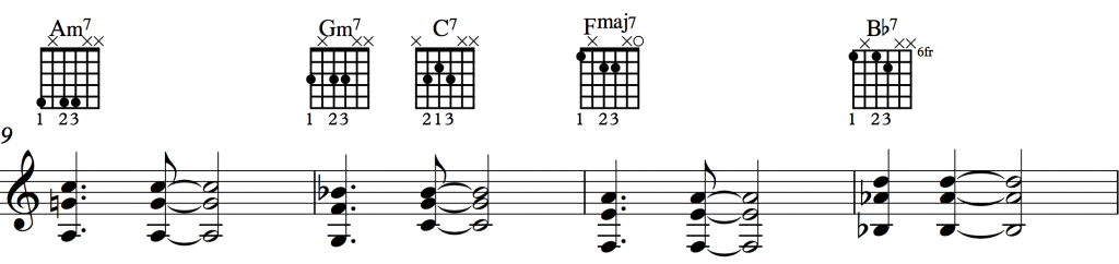 Sunny Shell Chords 1-3