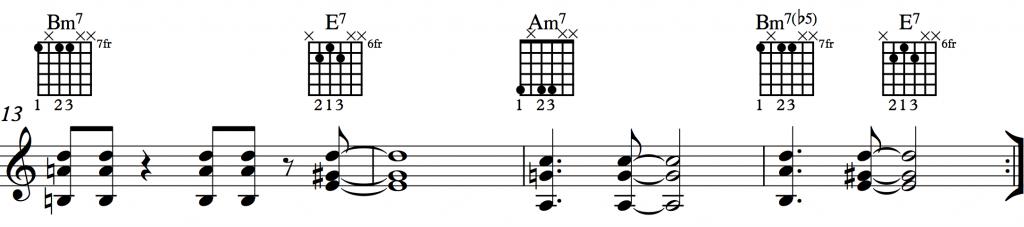 Sunny Shell Chords 1-4